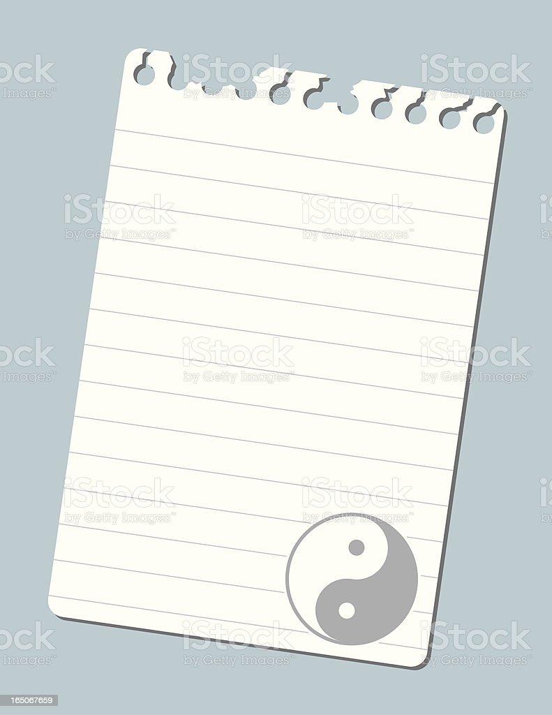 Note Yin and Yang royalty-free stock vector art