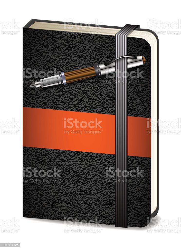 Notebook and Pen royalty-free stock vector art