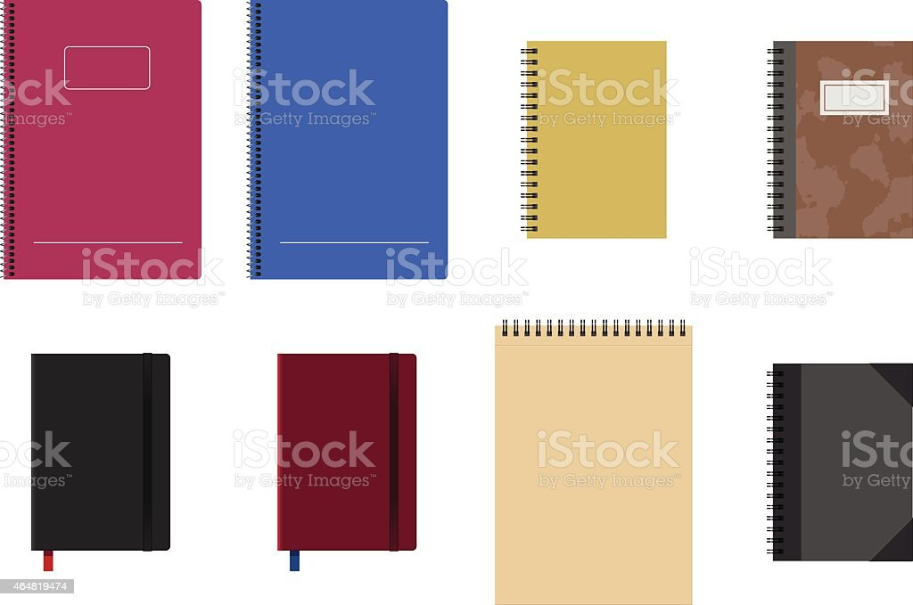 Notebook blank covers vector art illustration