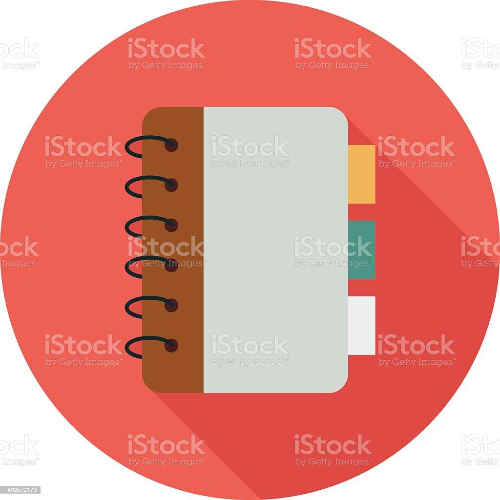 Notebook Colored Vector Illustration vector art illustration
