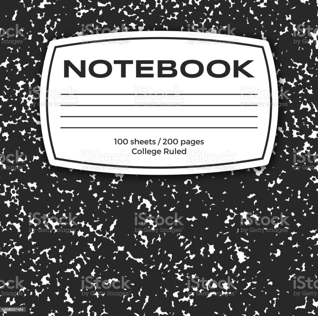 Notebook Cover vector art illustration