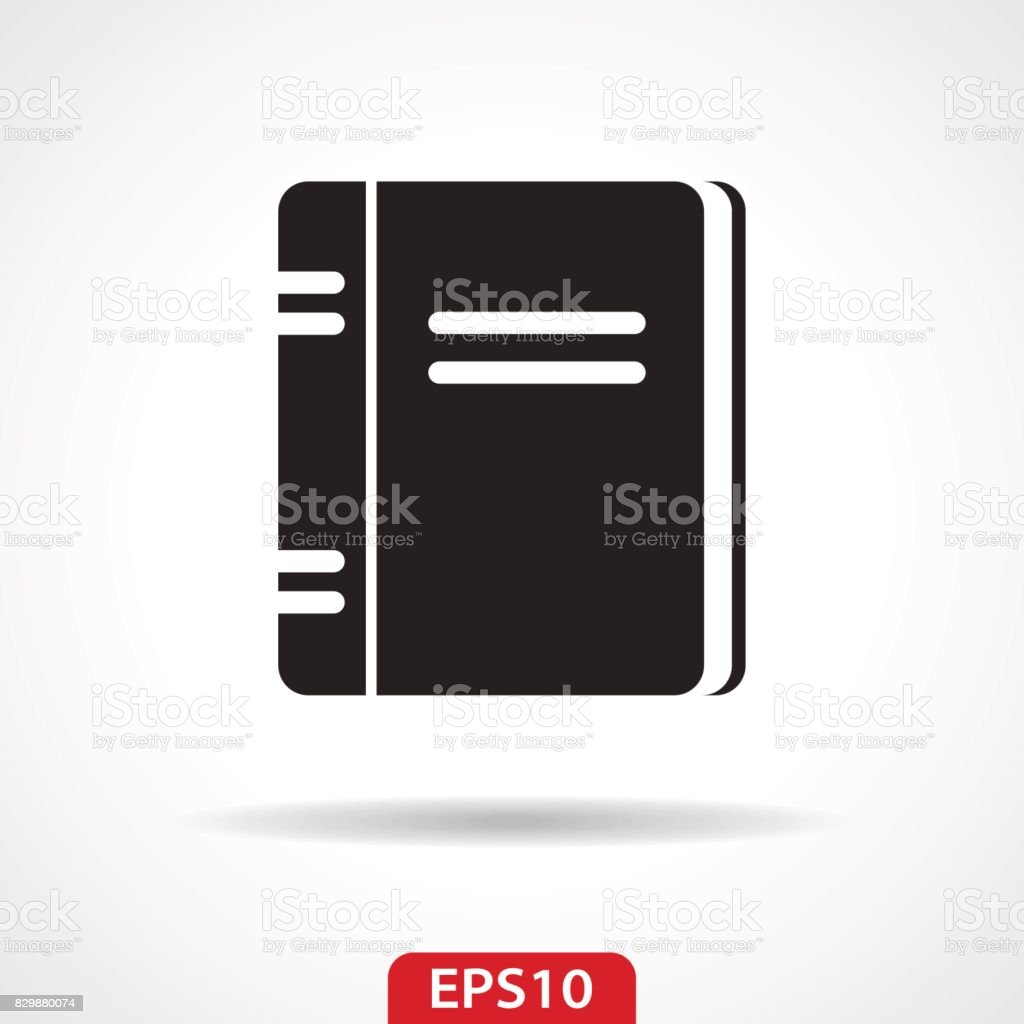Notebook Flat Icon - Vector Illustration vector art illustration