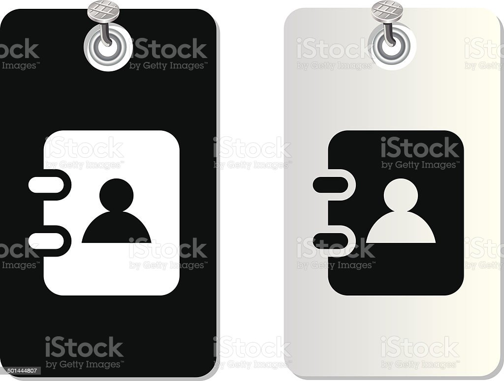 notebook label tag royalty-free stock vector art