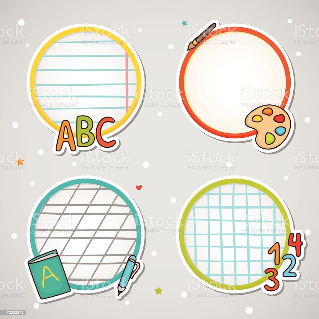 Notebook Labels royalty-free stock vector art
