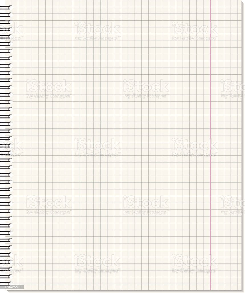 Notebook page vector art illustration