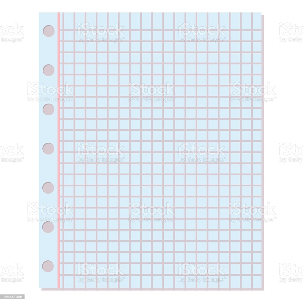 Notebook paper vector background. vector art illustration