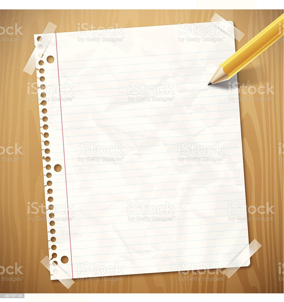 Notebook Paper vector art illustration