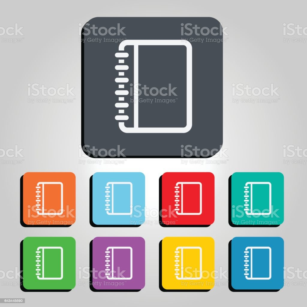 Notebook Vector Icon Illustration vector art illustration