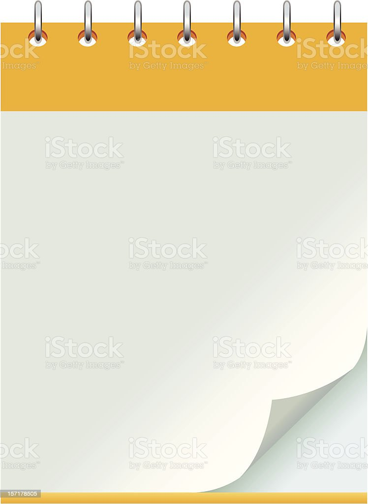 notebook royalty-free stock vector art