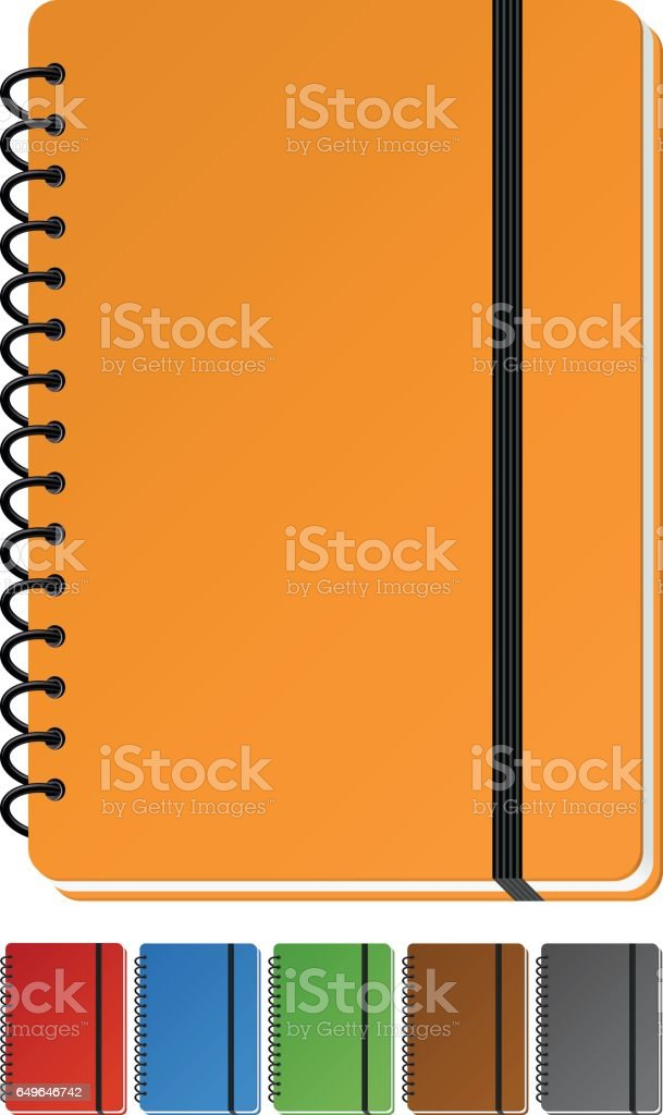 Notebook vector art illustration