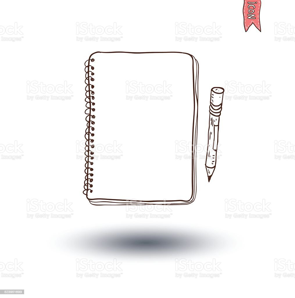 Notebook. Vector illustration hand drawn. vector art illustration