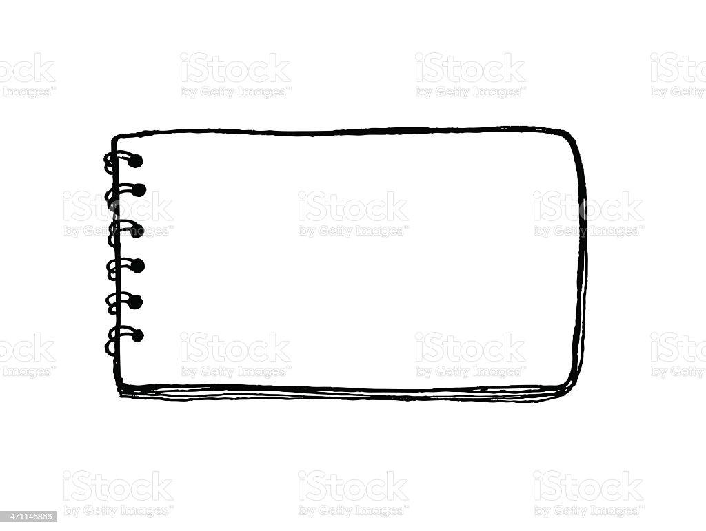 Notebook vector vector art illustration
