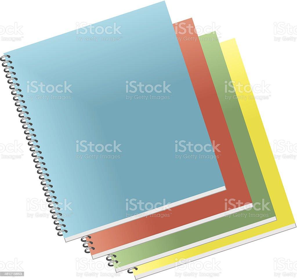 Notebooks C vector art illustration