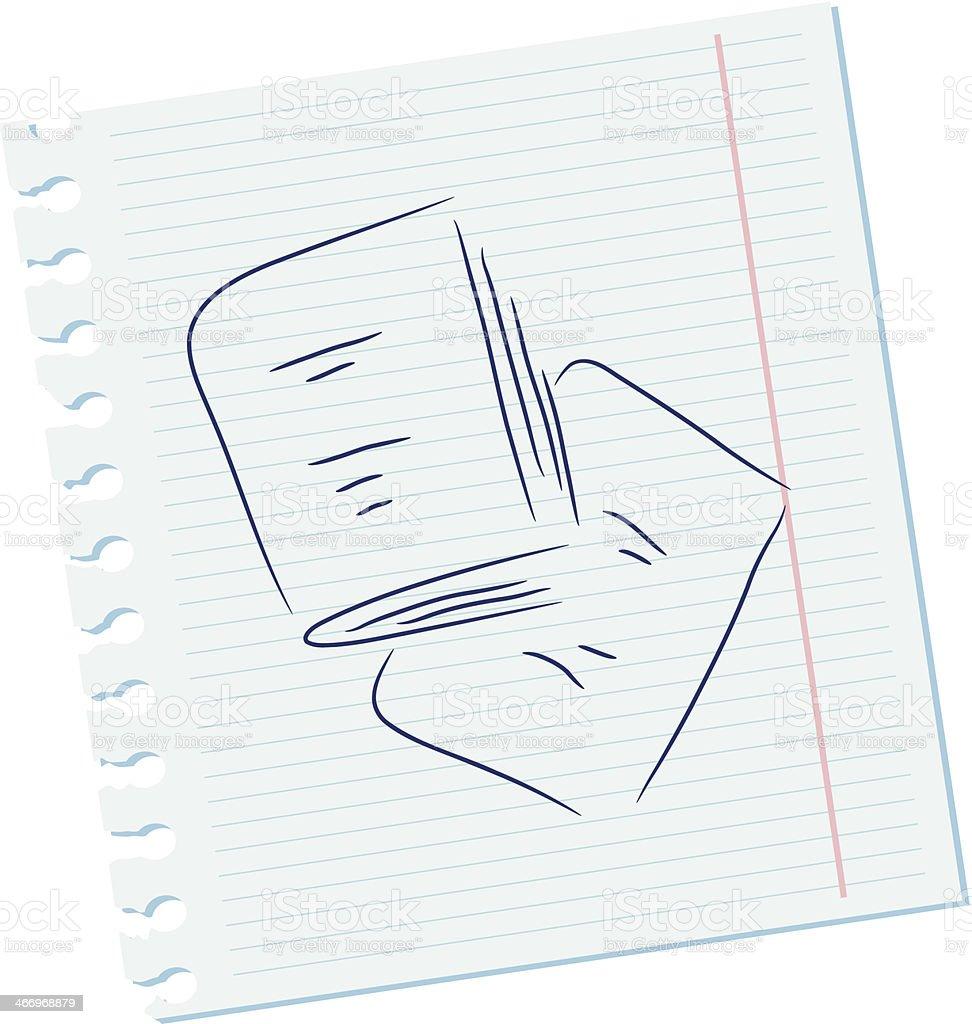 Notebooks vector art illustration