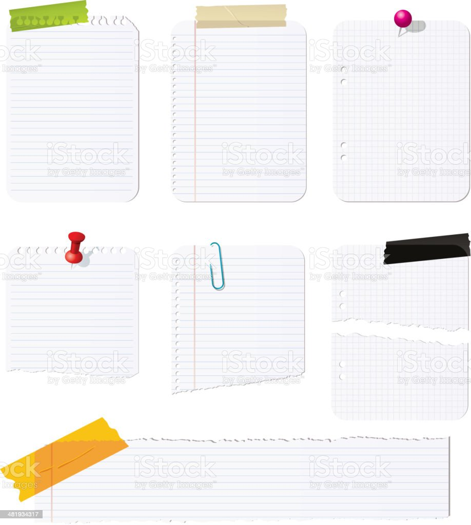 Notepad collection royalty-free stock vector art