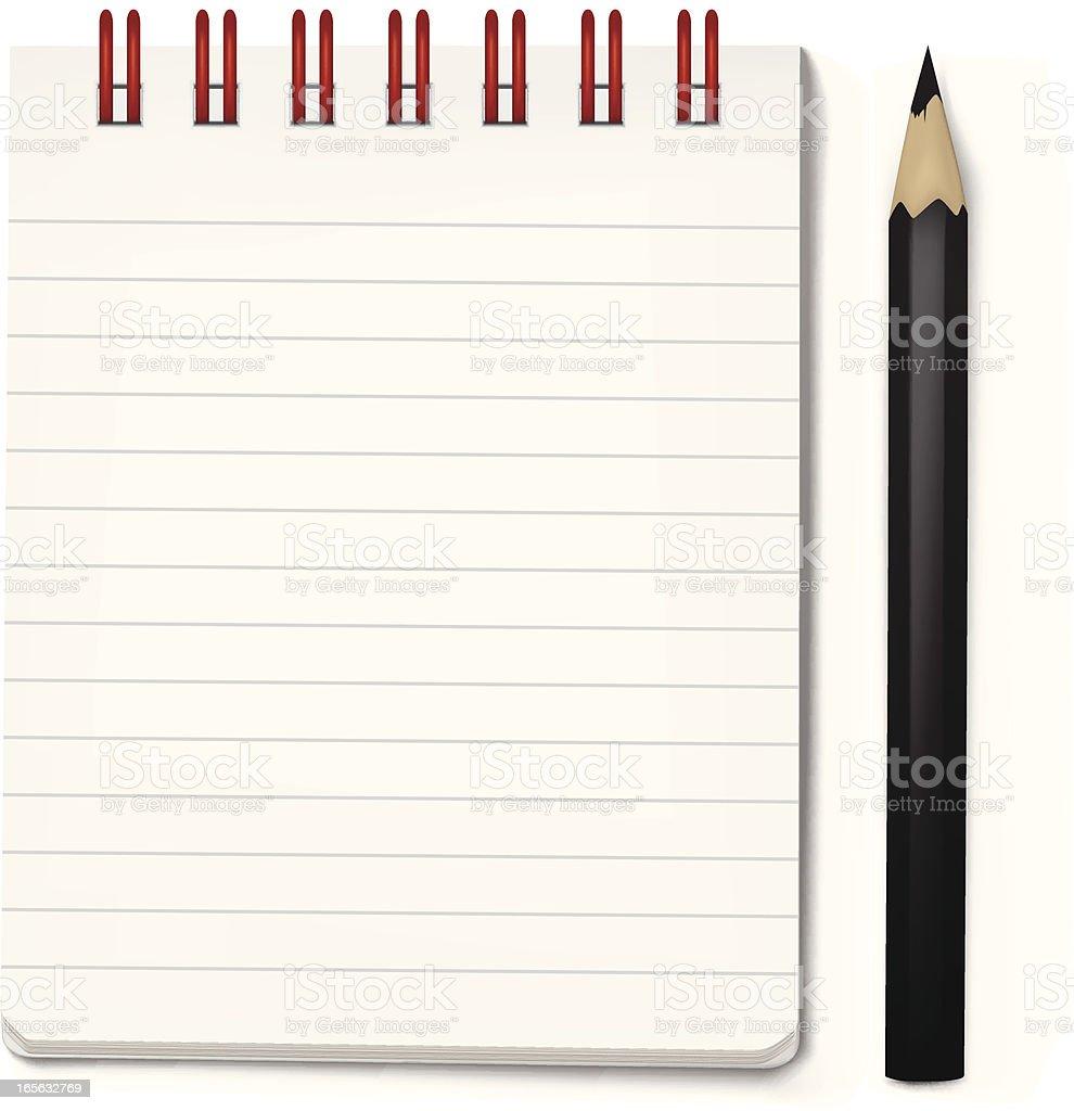 Notepad royalty-free stock vector art