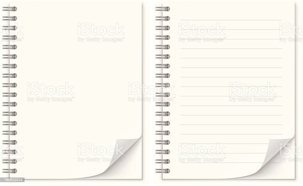 Notepad royalty-free stock vector art