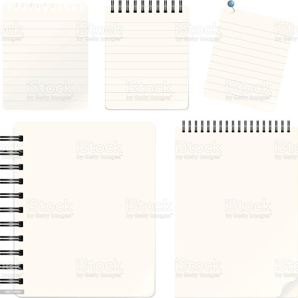 Notepads vector art illustration