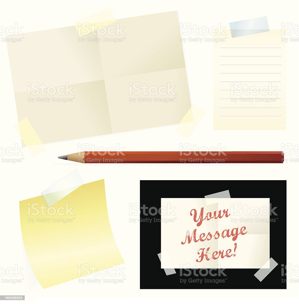 Notes and Messages royalty-free stock vector art