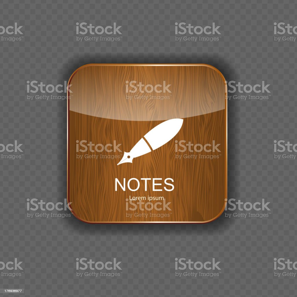 Notes  application icons vector illustration royalty-free stock vector art