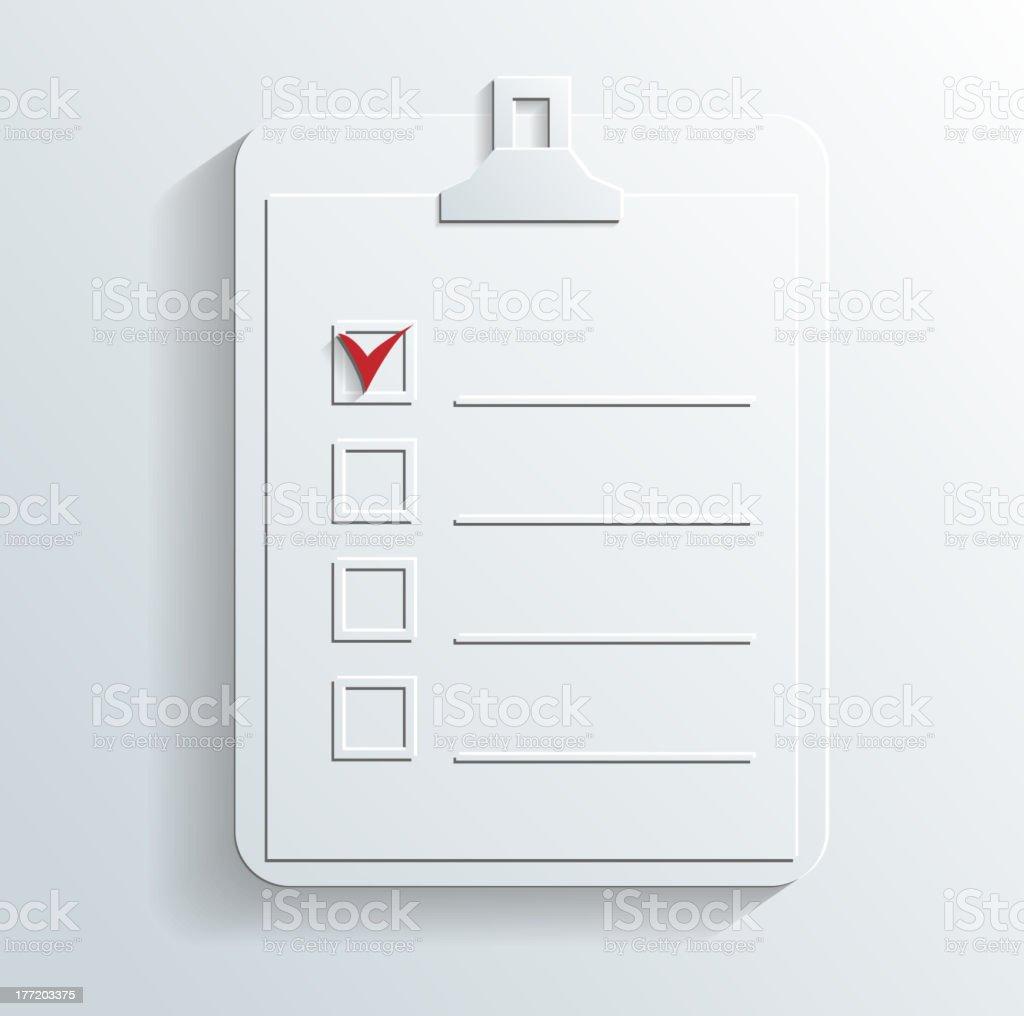 notes icon vector royalty-free stock vector art