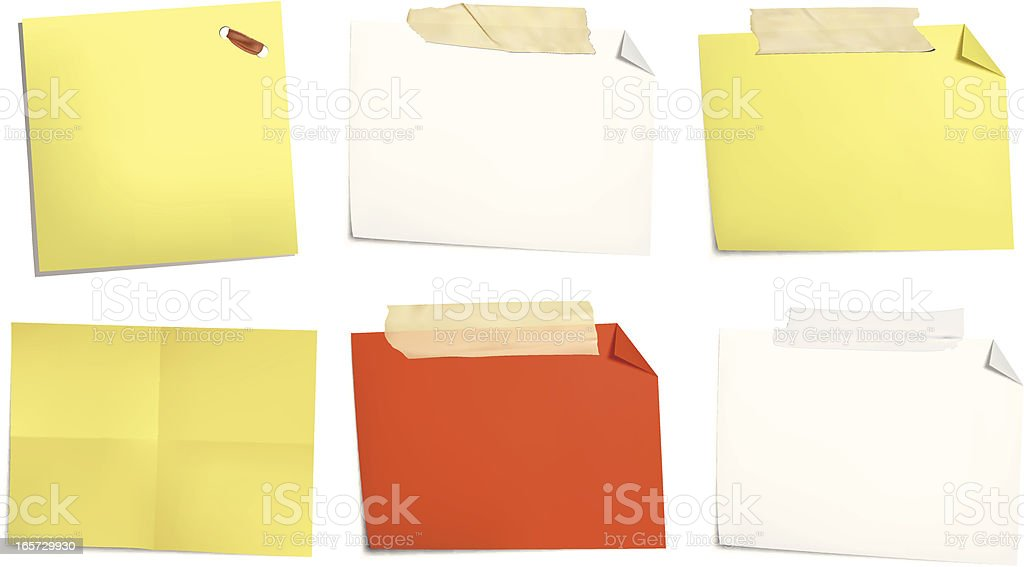Notes in shapes and colors vector art illustration