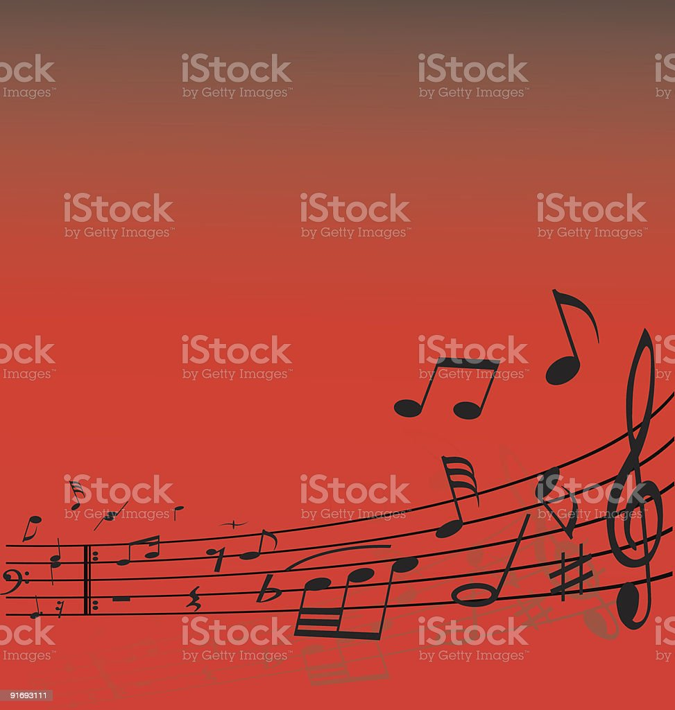 notes lines royalty-free stock vector art