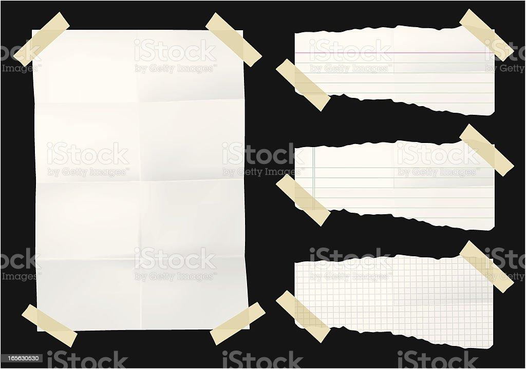 Notes vector art illustration