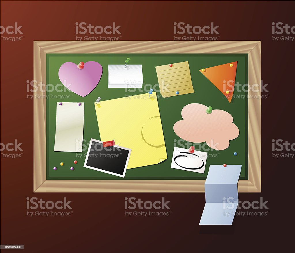 Notice Board royalty-free stock vector art