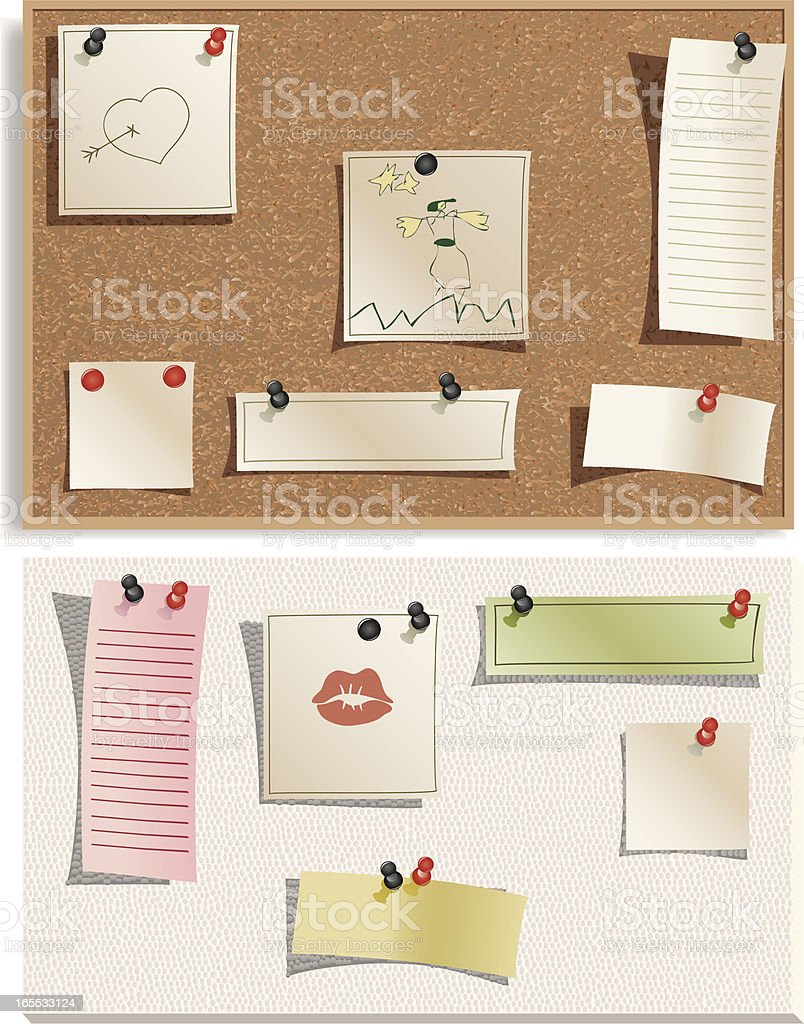 Notice boards royalty-free stock vector art