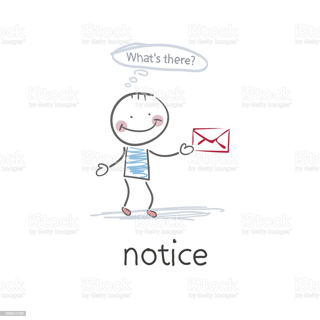 Notice . Illustration royalty-free stock vector art