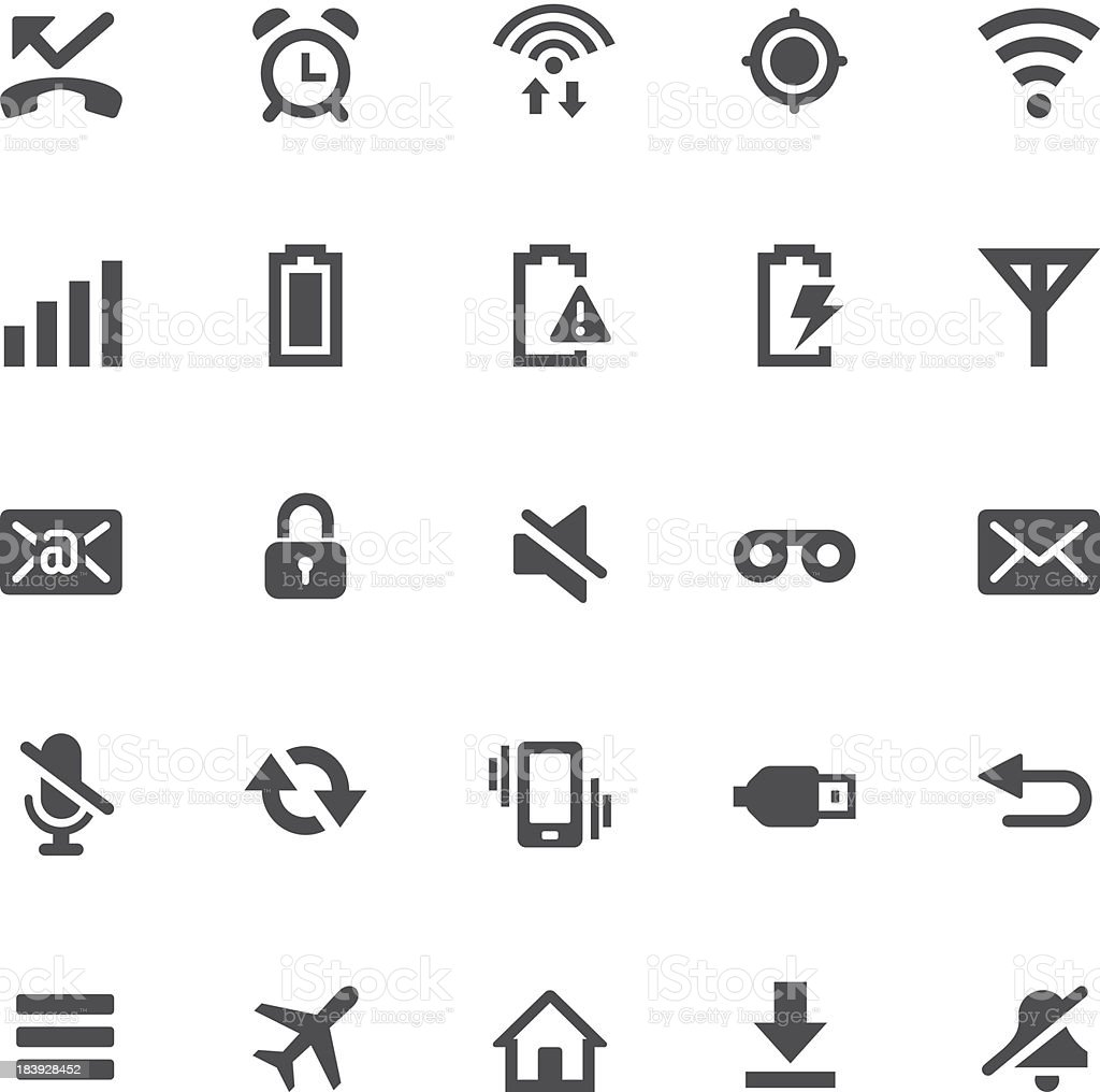 Notification Icons   One-Touch Basics vector art illustration