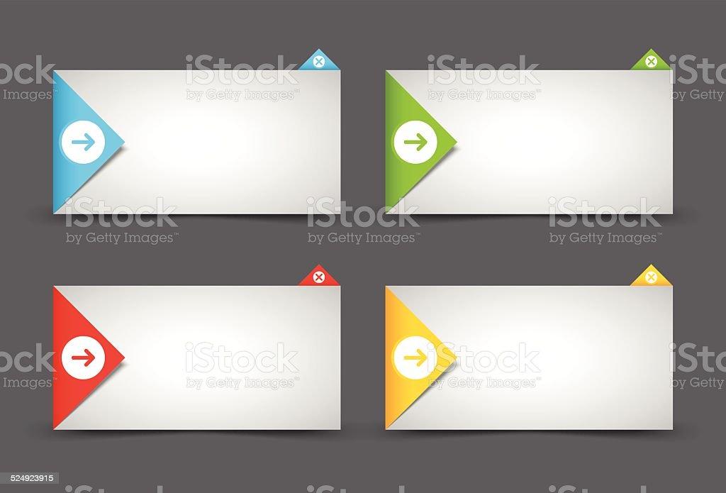 Notification window template vector art illustration