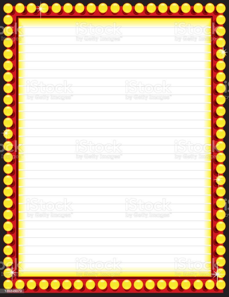 Now Playing Movie Board or Lit Marquee royalty-free stock vector art