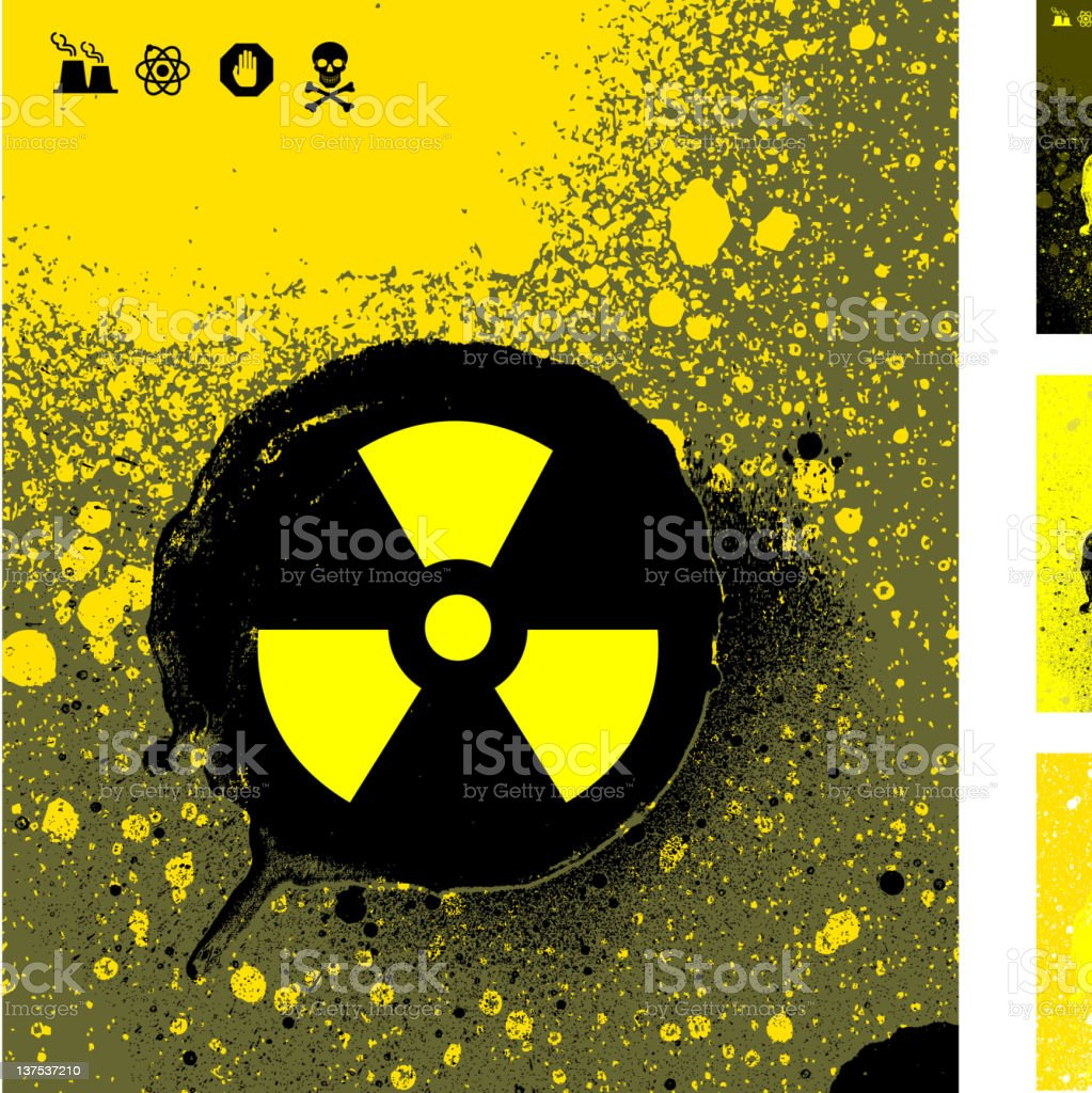 nuclear energy symbol on abstract royalty free vector Background royalty-free stock photo