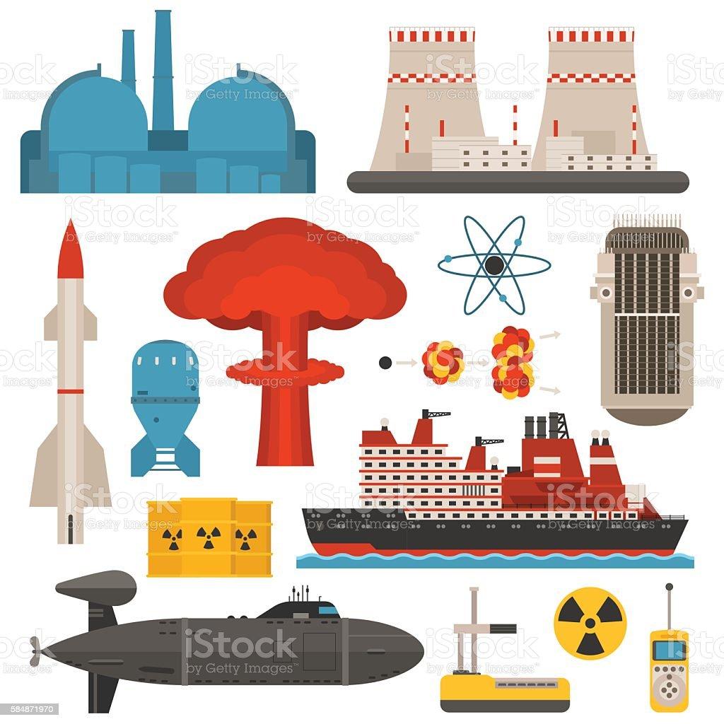 Nuclear energy vector illustration vector art illustration