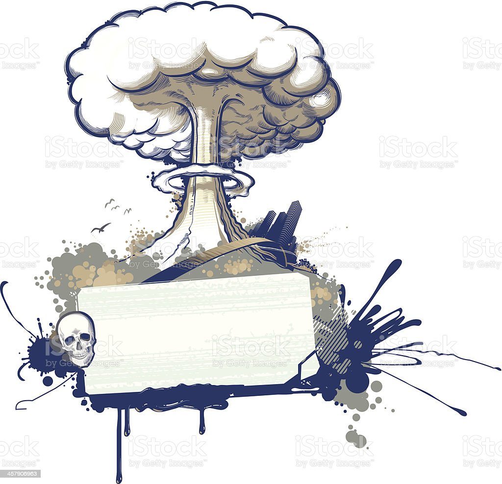 nuclear explosion royalty-free stock vector art