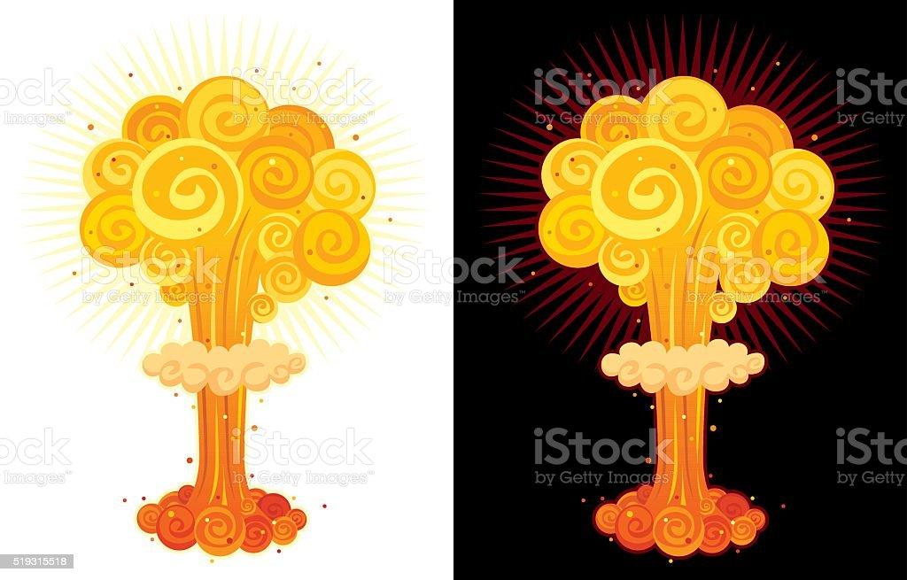 Nuclear Explosion vector art illustration