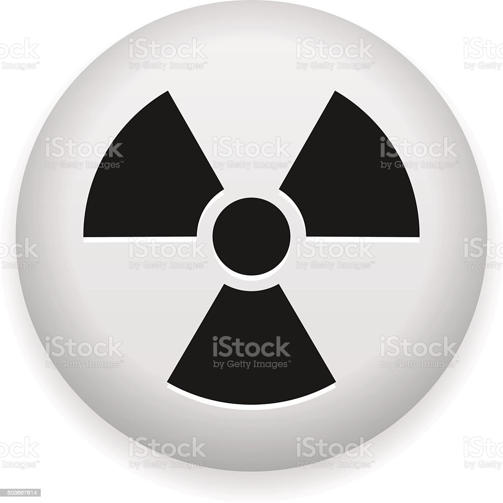 Nuclear Hazard Symbol vector art illustration