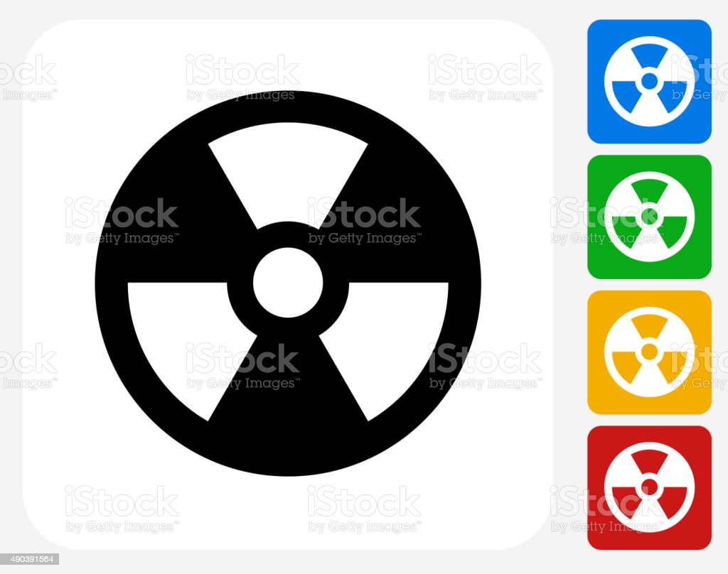 Nuclear Icon Flat Graphic Design vector art illustration