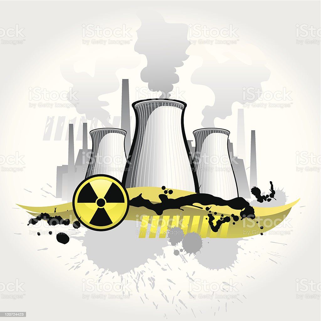 Nuclear plant abstract background royalty-free stock vector art