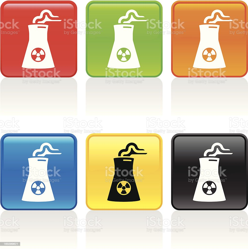 Nuclear Plant Icon royalty-free stock vector art