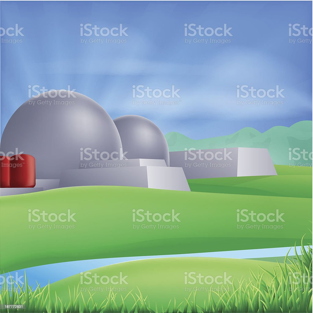 Nuclear power energy illustration royalty-free stock vector art