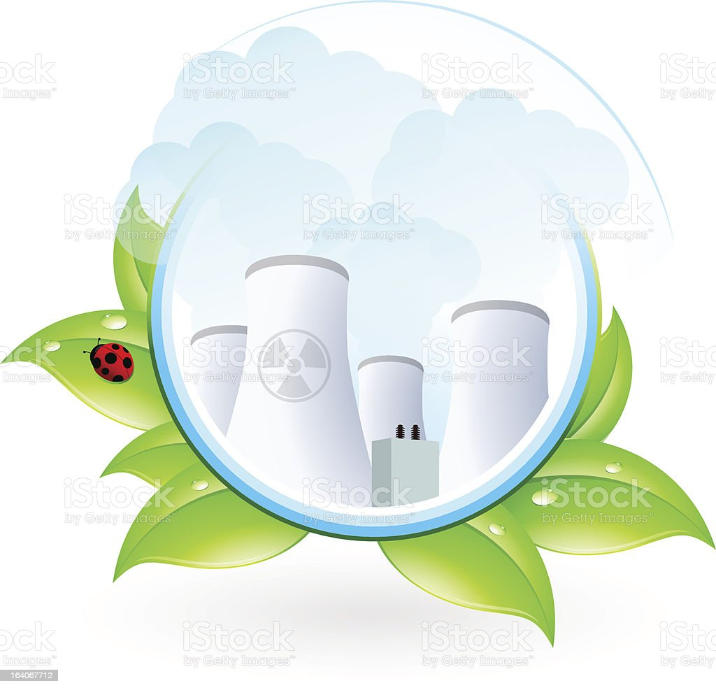 Nuclear Power Plant Icon royalty-free stock vector art