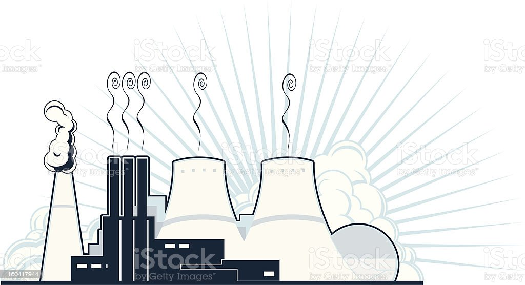 Nuclear Power Plant royalty-free stock vector art