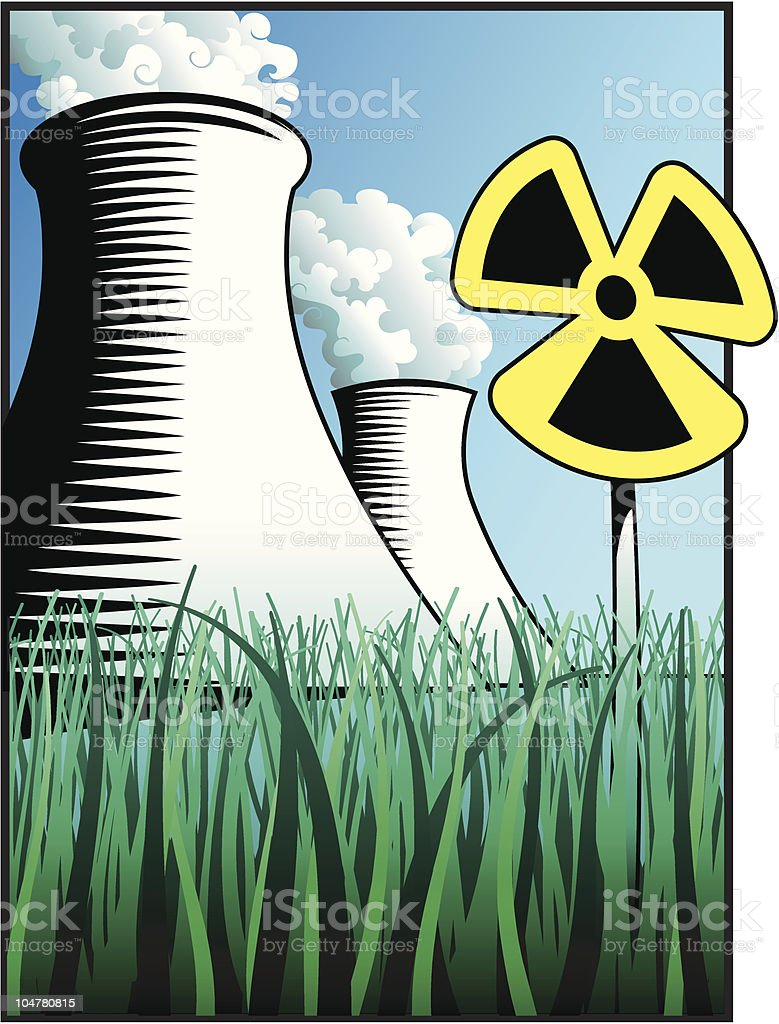 Nuclear Power royalty-free stock vector art