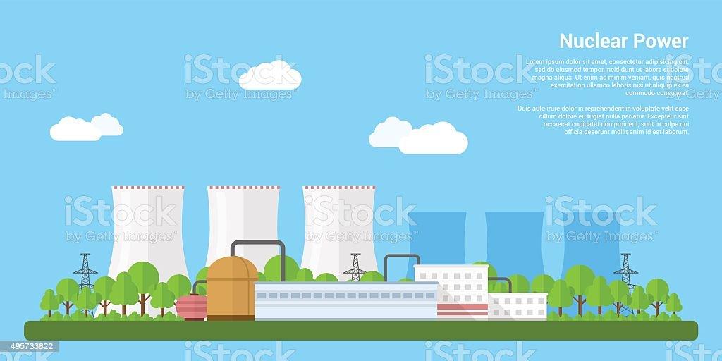 nuclear power vector art illustration