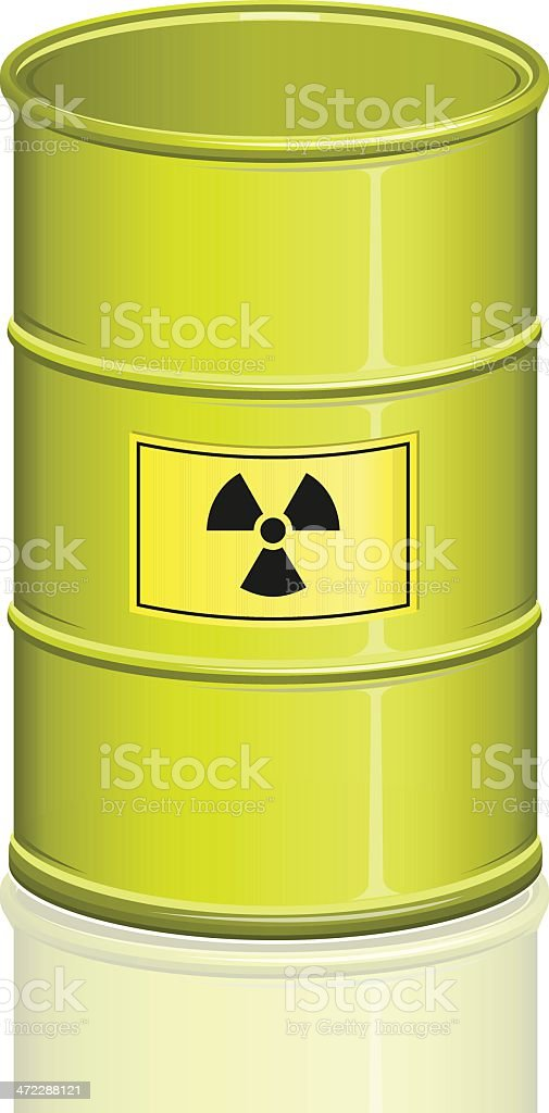 Nuclear waste barrel. royalty-free stock vector art