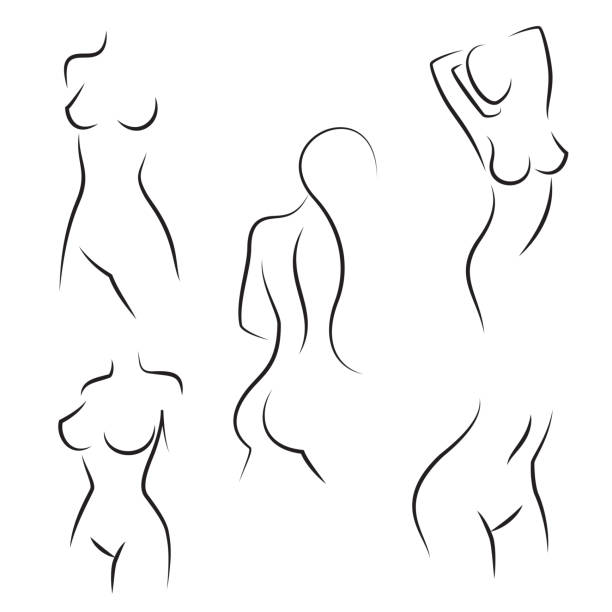 Nude Women With Hair Pictures Clip Art, Vector Images ...