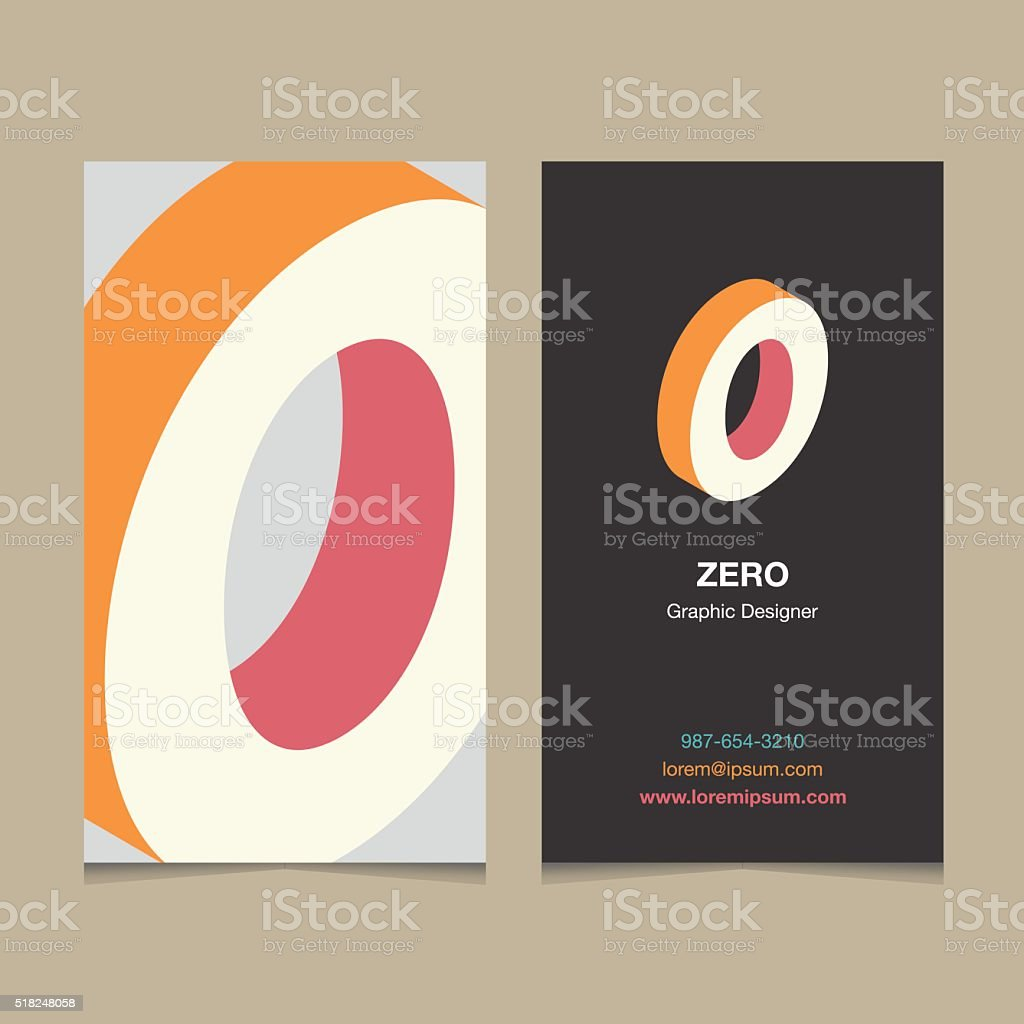 number '0' vector art illustration